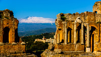 Greek temple in Taormina