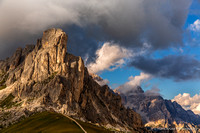 Afternoon light at Passo Giau