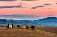 Chapel in the Landscape in Tuscany, Italy