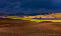 Light and Patterns over Tuscan Landscape, Italy
