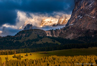 Evening Light in Alpe di Siussi, Dolomites, Italy