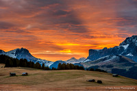 Morning in Alpe di Siussi, Dolomites, Italy