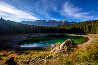 Lago di Carezza in morning light