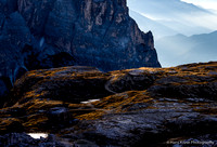 Light and shadows in the Dolomites mountains