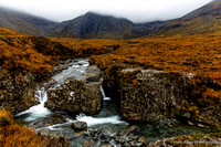 A waterfall at Fairy Pools