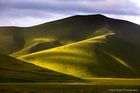 Rolling hills with light