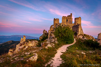 Rocca Calascio castle at early morning